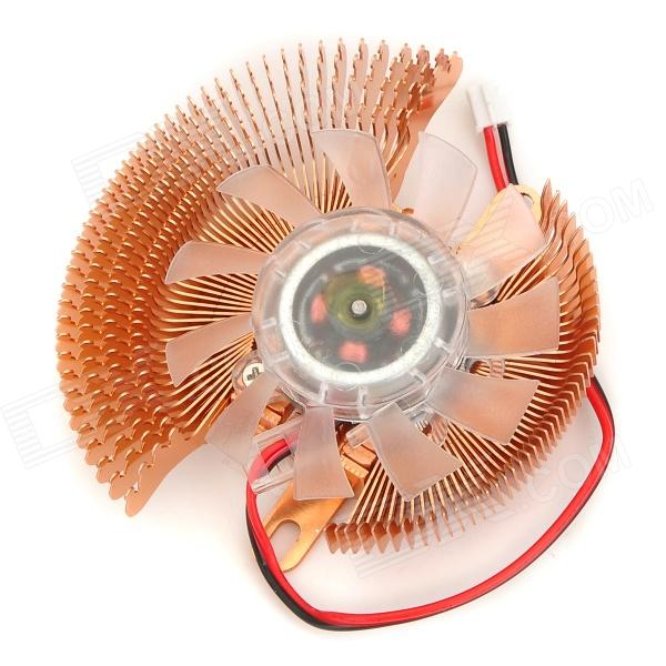 Copper Plating Video Display Card Cooling Fan for 55~60mm Pitch - Golden + Translucent