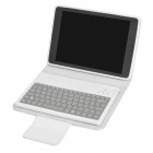 Wireless Bluetooth v3.0 82-Key Flip-Open Case Keyboard w/ Stand for Ipad MINI - White + Grey