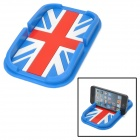 YB030610 Union Jack Style Mobile Navigation Silicone Anti-Slip Mat - Blue + Red + White