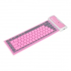 Mini 85-Key Soft Silicone Wireless Bluetooth V3.0 Keyboard for Ipad - Purple Red + Grey + White