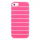 Stripe Pattern Protective TPU Case for Iphone 5 - Deep Pink