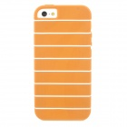 White Stripe Protective TPU Case for Iphone 5 - Brown