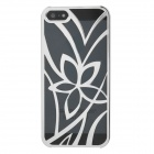 Palace Flower Pattern Protective Hollow-Out Plastic Case for iPhone 5 - Silver