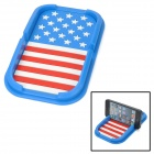 YB030608 Flag of the United States Style Mobile Navigation Anti-Slip Mat - Blue + White + Red