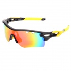 OREKA WG565 Sports Cycling UV400 Protection Polarized Goggles Sunglasses - Black + Yellow
