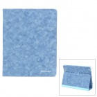 Kingsons KS3031U Protective Intelligent PU Leather Case w/ Stand for Ipad 2 / 3 - Blue