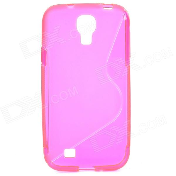 S-Line Style Protective TPU Soft Back Case for Samsung Galaxy S4 i9500 - Translucent Red + Deep Pink s style protective tpu back case for htc 8s translucent deep pink