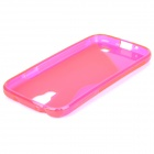 S-Line Style Protective TPU Soft Back Case for Samsung Galaxy S4 i9500 - Translucent Red + Deep Pink
