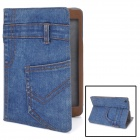 Stylish Protective Denim Fabric + PU Leather Case for Ipad MINI - Blue