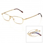 KQ Old Man's Head 6025 Folding Nickel Alloy Frame Resin Lens +200 Degree Reading Glasses - Golden