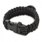 Bracelet Style Outdoor Survival Emergency Rope + Compass - Black