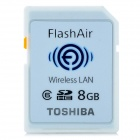 Toshiba SD-R008GR7W6 FlashAir Wireless LAN Embedded SDHC Memory Card - White (8GB / Class 6)