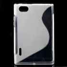 S-Line Style Protective TPU Soft Back Case for LG F100L Optimus Vu - Transparent