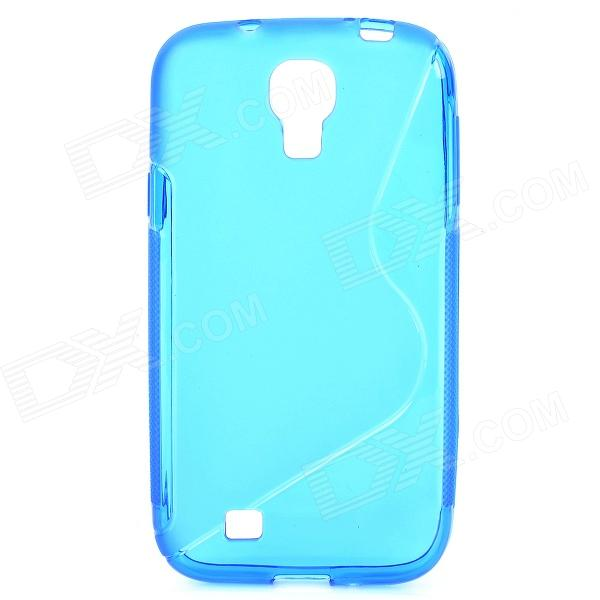 S-Line Style Protective TPU Soft Back Case for Samsung Galaxy S4 i9500 - Deep Blue cm001 3d skeleton pattern protective plastic back case for samsung galaxy s4