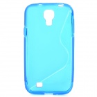 S-Line Style Protective TPU Soft Back Case for Samsung Galaxy S4 i9500 - Deep Blue