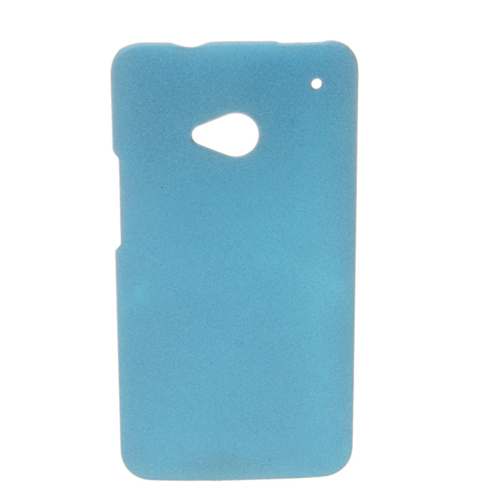 Ultrathin Quicksand Matte Protective PC Hard Back Case for HTC One M7 - Royal Blue