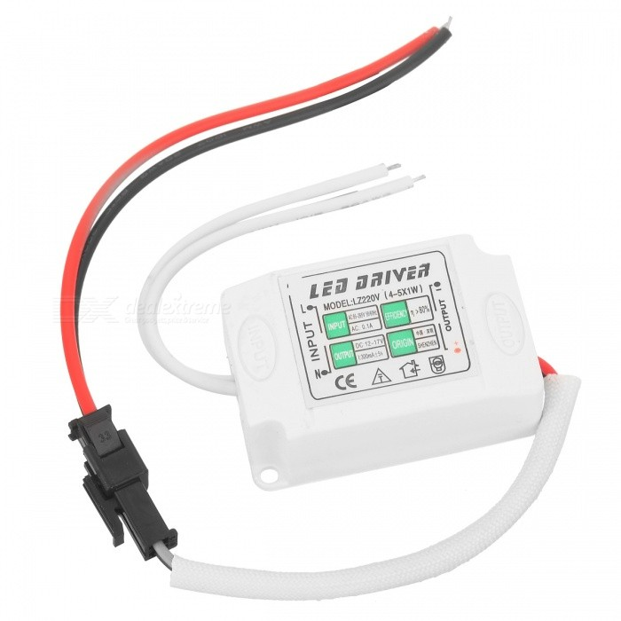 External Constant Current Power Supply Driver for 4~5 x 1W LED - White led driver ac input 220v to dc 1800w 0 60v 30a adjustable output switching power supply transformer for led strip light