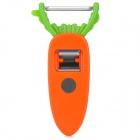 Carrot Pattern Multifunction ABS + Stainless Steel Peeler - Orange + Green + Silver