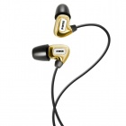 SOMiC L4 London Series In-ear Balanced Armature Earphone for Iphone / Ipad / Ipod / MP3 - Golden