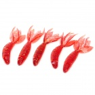 Lifelike Shrimp Style Soft Plastic Fishing Bait - Red (5 PCS)