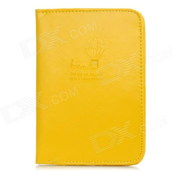 Travel Passport Holder w/ Card Slots - Yellow