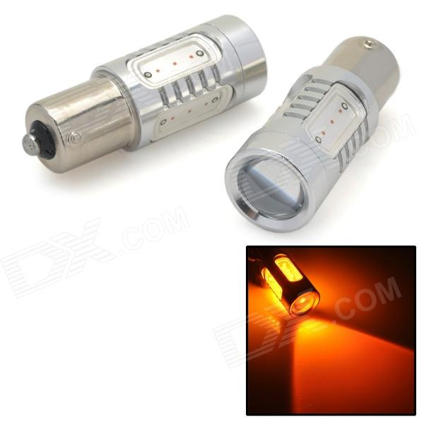 S25-1156-11W-Y-12V 1156 11W 990lm 590nm 5-LED Yellow Light Car Steering Light - (2 PCS / DC 12V)