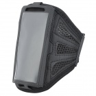 Outdoor Sports Gym Mesh Fabric Arm Band Armband Case for Nokia Lumia 920 - Black