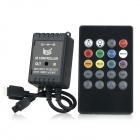 20-Key 144W IR Remote Control LED RGB Strip Music Controller - Black (12~24V)