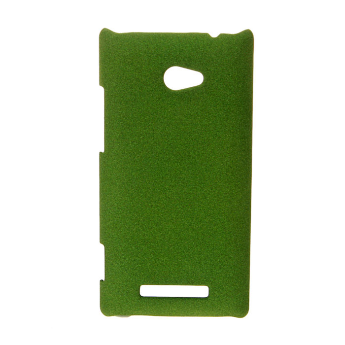 Ultra-Slim Matte PC Back Case for HTC 8X - Olive Drab