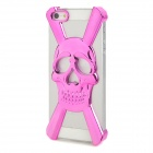 Skull Style Protective Electroplating Plastic Case for iPhone 5 - Deep Pink