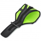 Outdoor Sports Gym Mesh Fabric Arm Band Armband Case for Samsung Galaxy S4 i9500 - Green + Black