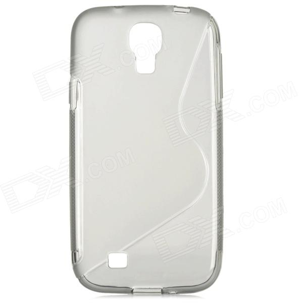 Protective S Pattern TPU Back Case for Samsung i9500 Galaxy S4 - Translucent Grey protective cute spots pattern back case for samsung galaxy s4 i9500 multicolored