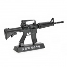 Stainless Steel Assembly 1:3 M4 Assault Rifle Model Toy - Black