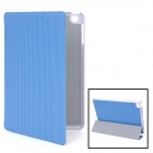 K002 Football Pattern Protective PU Leather Case for Ipad MINI - Blue + White