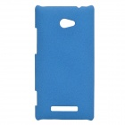 Ultra-Slim Matte PC Back Case for HTC 8X - Blue