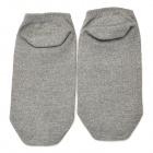 Smiling Pattern Pure Cotton Women's Socks - Grey