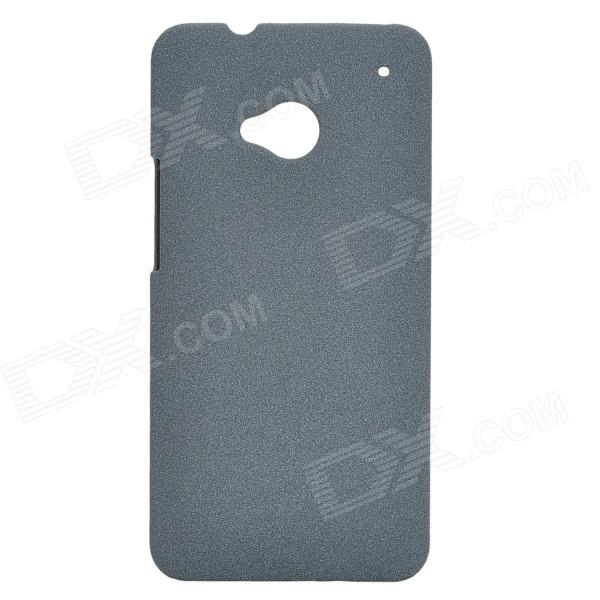 Ultra-Slim Matte PC Back Case for HTC One M7 - Dark Grey matte protective pe back case for htc one x s720e red