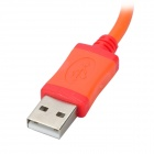 Bolongking USB Male to Micro USB Male Charging Cable - Orange (105cm)