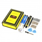 LIAN XING K NO.1252 38-in-1 Repair Screwdriver Tool Set - Black + Yellow + Blue