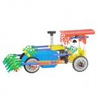 128pcs Assembly Electric Harvester Toy - Multicolor (2 x AA)