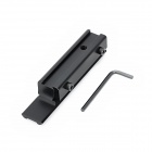 Aluminum Alloy 11mm To 20mm Weaver Gun Rail Mount Adapter - Black
