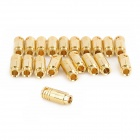 Gold Plated 6.5mm Bullet Banana Plug Connector for R/C Battery - Golden (20-Pairs)