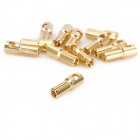 Gold Plated 5.5mm Bullet Banana Plug Connector for R/C Battery - Golden (20-Pairs)