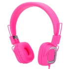 Kanen KM890 Headband Foldable Headphone for Iphone + HTC + Laptop - Deep Pink