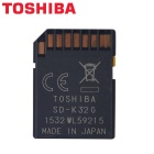 Genuine TOSHIBA SD-K32GR7WA SD Memory Card - Black (32GB)