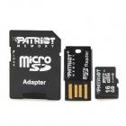 PATRIOT MicroSDHC Memory Card + USB Adapter + TF to SD Card Adapter - Black