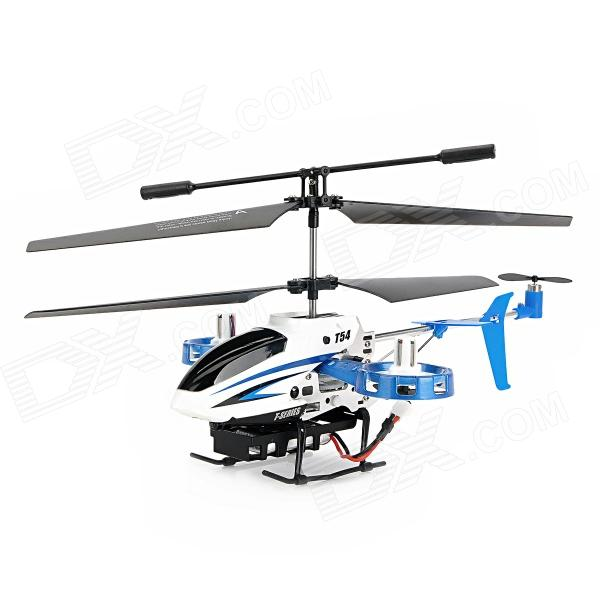 Meijiaxing T54 4-Channel Infrared R/C Helicopter - White + Black (4 x AA Batteries)
