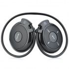 SH-S5 Rechargeable Sports MP3 Player Headphones Headset w/ FM / TF - Black