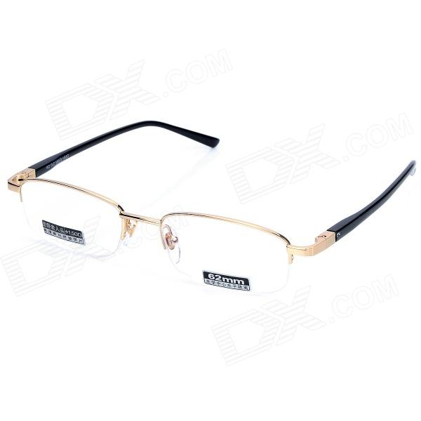 KQ OLD MAN'S HEAD 2065 +150 Degree Resin Lens High Nickel Alloy Frame Reading Glasses - Golden anti fatigue 300 degree resin lens presbyopia reading glasses golden black