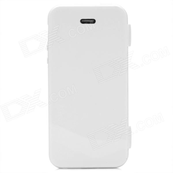 Protective TPU Flip Open Case for Iphone 5 - White for iphone 7 plus 5 5 inch touchable flip tpu flexible case cyan